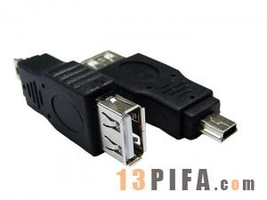 USB AF(母头)/5P公头 转接头