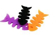 鱼骨头耳机卷线器
