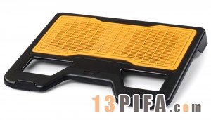 [黄色铁面网]RL-502 战神炫彩版冰锐高级笔记本散热垫散热风扇