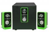 [绿色]IF-2110 爱放2.1低音振膜电脑音箱[USB供电]