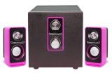 [粉色]IF-2110 爱放2.1低音振膜电脑音箱[USB供电]