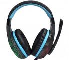 [黑色-发光]LPS-2008 乐普士七彩呼吸灯/裂纹发光抗暴力重低音头戴式耳机
