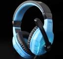 [蓝色-发光]LPS-2008 乐普士七彩呼吸灯/裂纹发光抗暴力重低音头戴式耳机