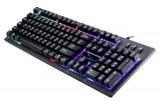 [彩虹黑]G20 追光豹悬浮式背光游戏键盘[USB]