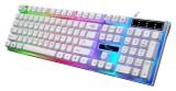 [炫彩白]G21 追光豹悬浮式炫彩发光USB键盘