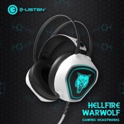 [白色+呼吸灯发光]G3 乐听网吧游戏立体音头戴式发光耳机