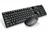 [黑色]R100 狼技无线轻薄静音笔记本电脑游戏键鼠套装