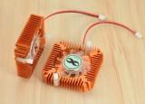 [金色55孔位]雪花显卡散热器/散热风扇孔距5.5CM 显卡散热器2pin