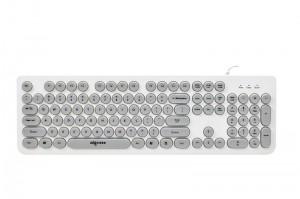 [朋克灰]W916爱国者朋克圆键帽有线彩色巧克力键盘USB