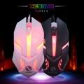[白色]S1力镁七彩发光游戏鼠标USB