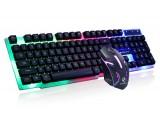 [缝隙发光-炫酷黑]GTX300力镁七彩背光有线吃鸡LOL机械手感炫酷鼠标键盘