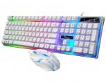 [U+U白色]新G21B 追光豹游戏商务办公游戏键鼠套装