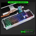 蝰蛇k18混彩字符发光铝合金金属机械手感游戏键盘鼠标有线键盘